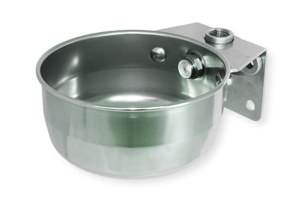 Drinking bowl for calves and sows