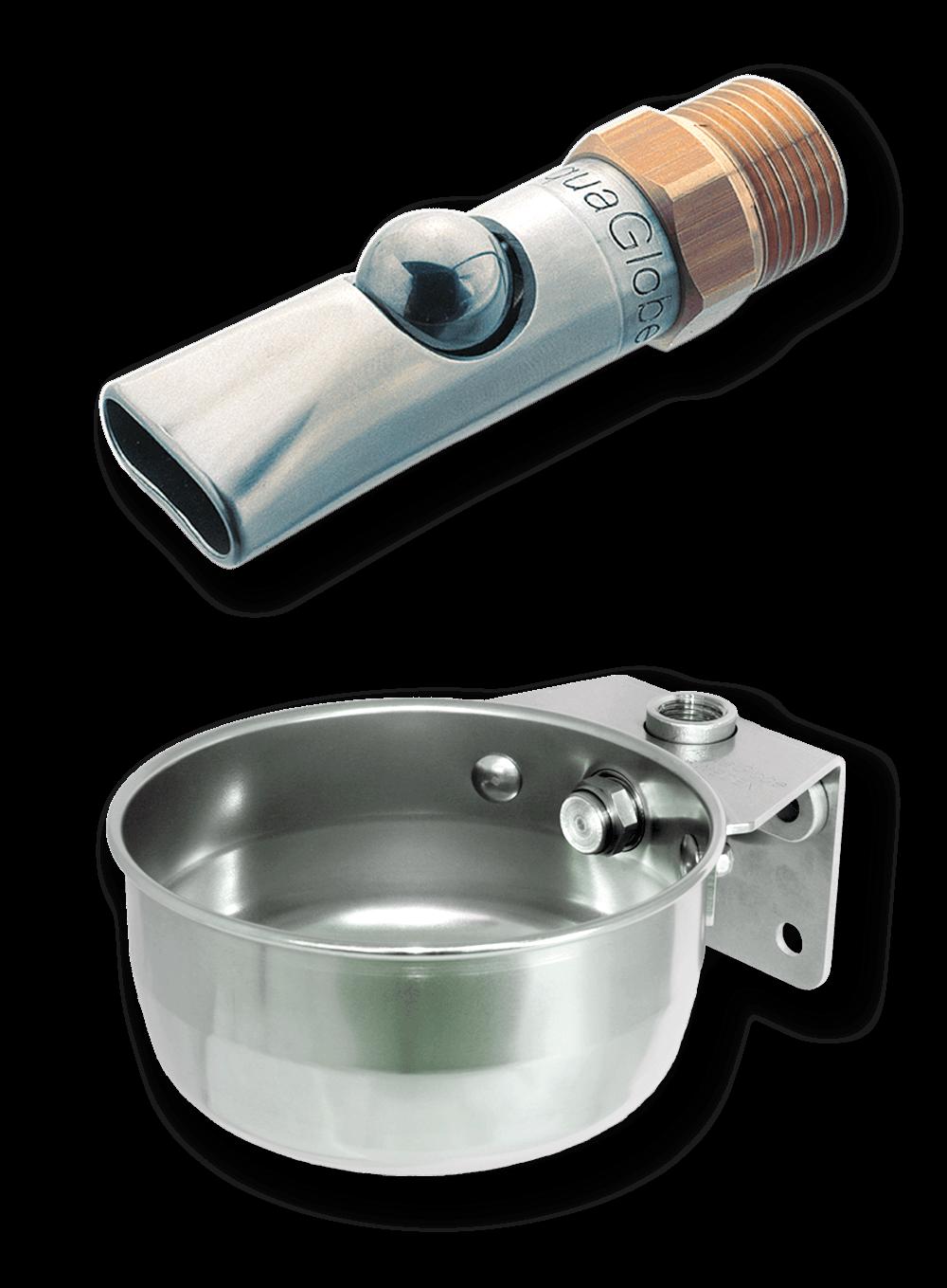 Bite ball valve and drinking bowl